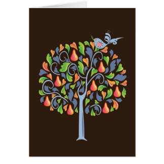 A Partridge in a Pear Tree Christmas Card