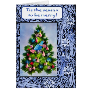 A partridge in a pear tree greeting card