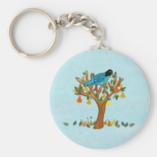 A Partridge in a Pear Tree Keychains