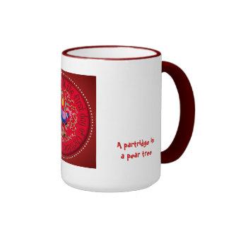 A partridge in a pear tree mug