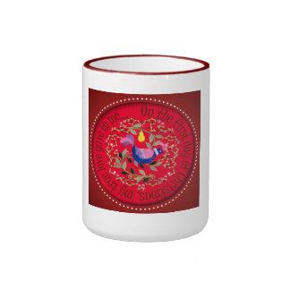 A partridge in a pear tree ringer coffee mug