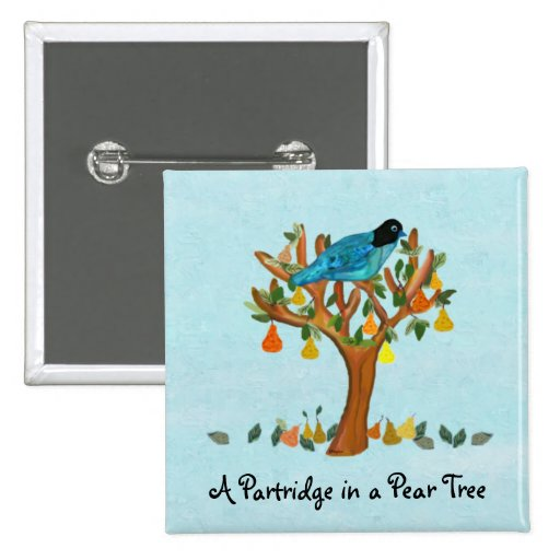 A Partridge in a Pear Tree Pin