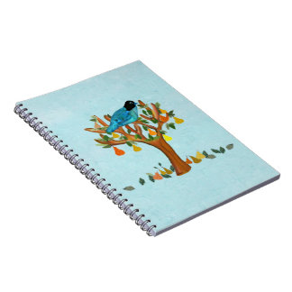 A Partridge in a Pear Tree Spiral Notebooks