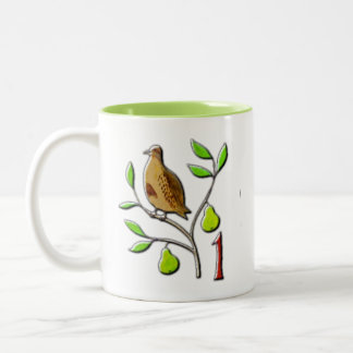 A partridge in a pear tree Two-Tone coffee mug