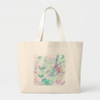 A Pastel Garden Large Tote Bag