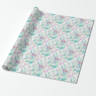 A Pastel Garden Wrapping Paper