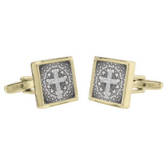 A Pastor is here Gold Finish Cufflinks