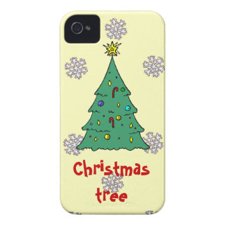 A pattern of snowflakes, Christmas tree Case-Mate iPhone 4 Case