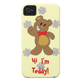 A pattern of snowflakes, Hi, I'm Teddy iPhone 4 Cover