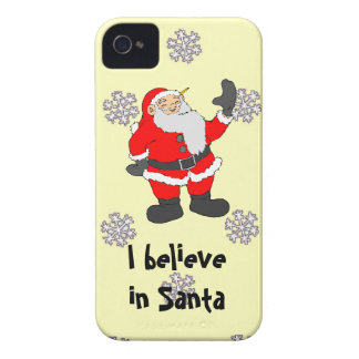 A pattern of snowflakes, I believe in Santa iPhone 4 Cases