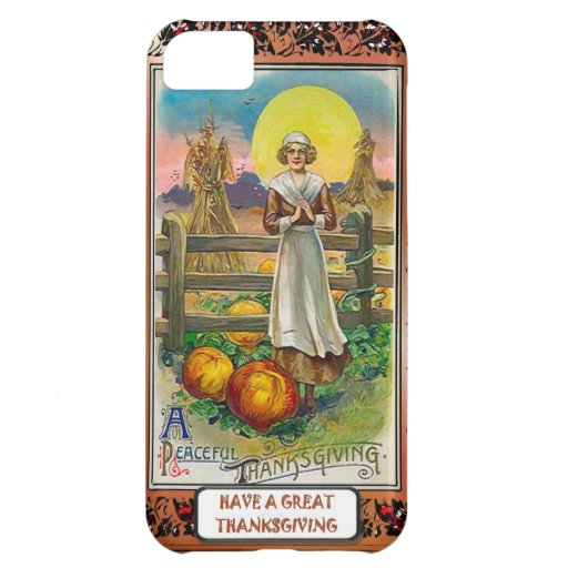 A peaceful thanksgiving case for iPhone 5C