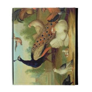 A Peacock, Doves, Chickens and a Jay in a Park iPad Cases