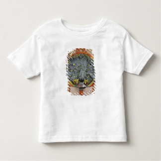 A peacock from the central panel of a mural toddler T-Shirt