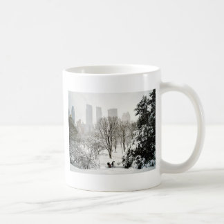 A Pedicab in Central Park During Winter Coffee Mug