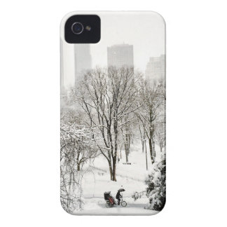 A Pedicab in Central Park During Winter iPhone 4 Case-Mate Cases