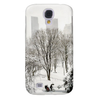 A Pedicab in Central Park During Winter Samsung Galaxy S4 Cases