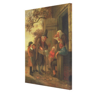A Pedlar selling Spectacles Gallery Wrap Canvas
