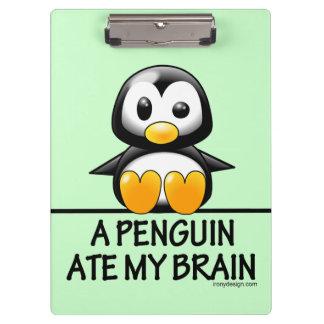 A Penguin Ate My Brain Clipboard