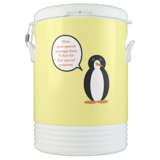 A Penguin Birthday Suit Drinks Cooler