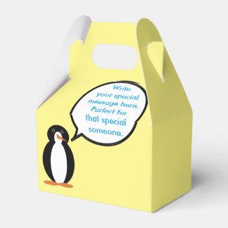 A Penguin Birthday Suit Favour Box
