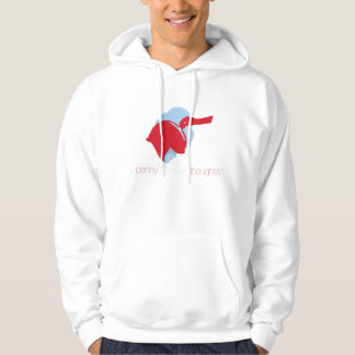 A Penny For Your Thoughs Hoodie in Red & Blue