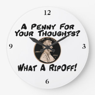 A Penny For Your Thoughts Wallclocks
