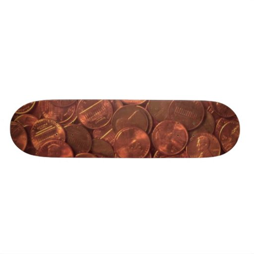 A Penny For Your Thoughts! Skateboard