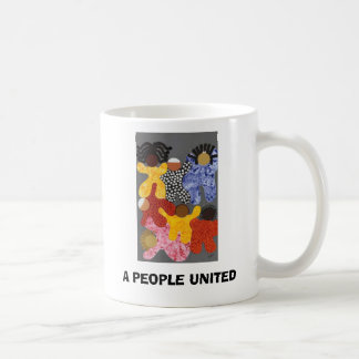 A PEOPLE UNITED CUP BASIC WHITE MUG