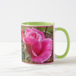 A Perfect Deep Pink English Rose Mug