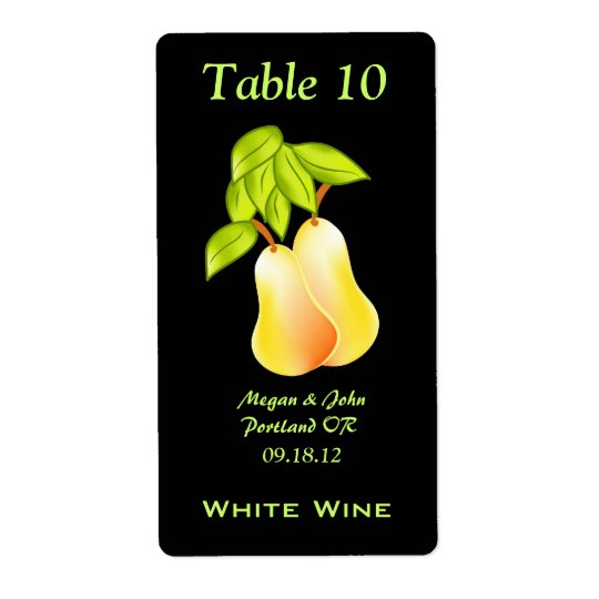 A Perfect Pair Fall Wedding Wine Label Shipping Label