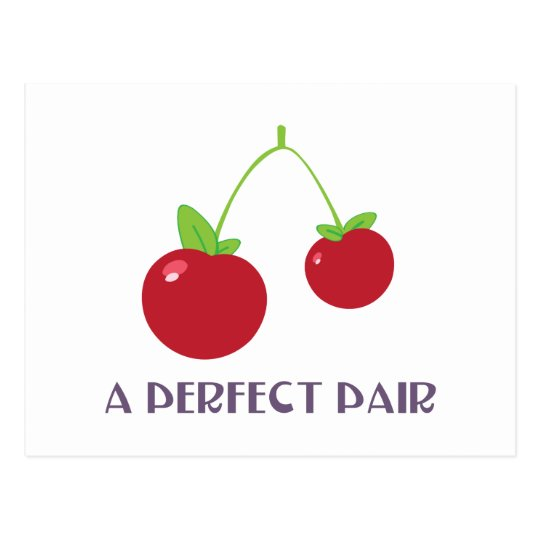 A Perfect Pair Postcard