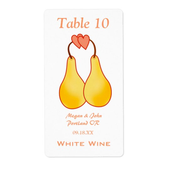 A Perfect Pair Wedding Wine Label Shipping Label