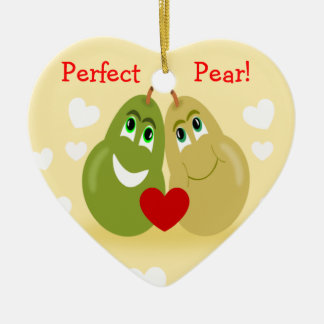 A Perfect Pear Couples Personalised Ornament