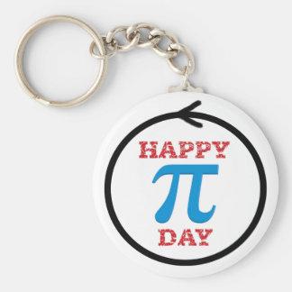 A perfect Pi Day circle Key Ring