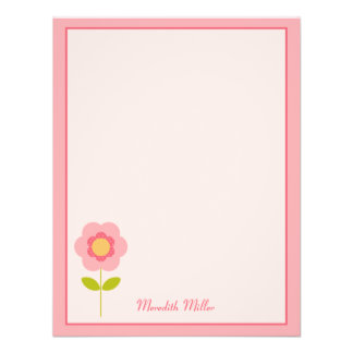A Perfect Stem Flat Thank You Card Personalized Announcement