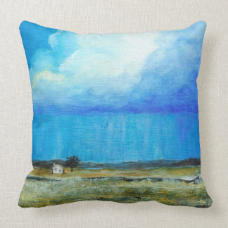 A Perfect Storm, Abstract Art Landscape Painting Throw Pillow