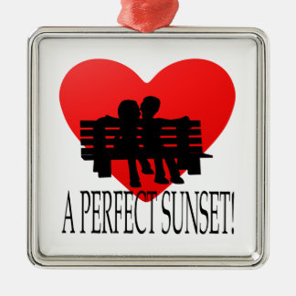 A Perfect Sunset Metal Ornament