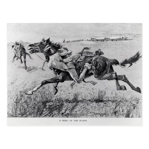A Peril of the Plains Post Card