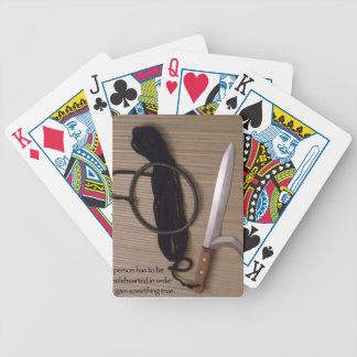 a person has to be wholehearted in order to gain s bicycle playing cards