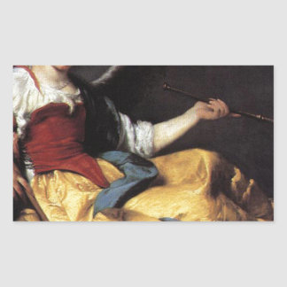 A Personification of Fame by Bernardo Strozzi Rectangular Sticker