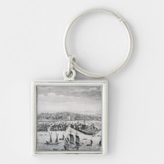 A Perspective View of the City of Venice Silver-Colored Square Key Ring