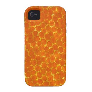 A petal of a tagetes flower under the microscope iPhone 4 covers