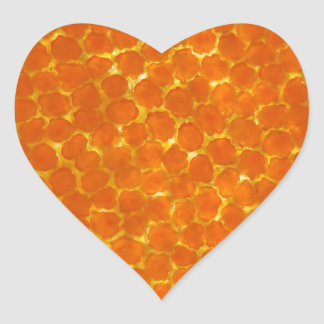 A petal of a tagetes flower under the microscope heart sticker