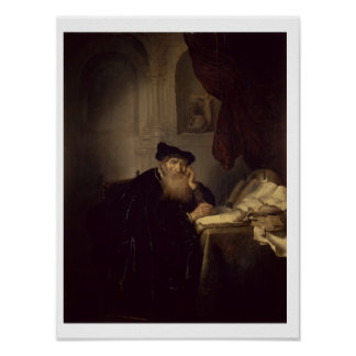 A Philosopher, 1635 (oil on panel) Poster