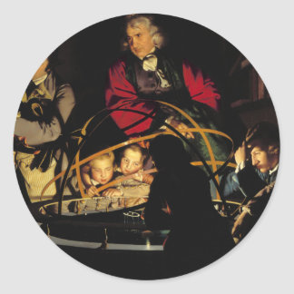 A Philosopher Lecturing on the Orrery Round Sticker
