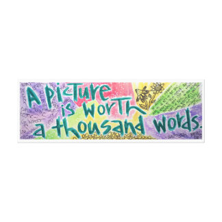 A Picture is Worth a Thousand Words Canvas Print