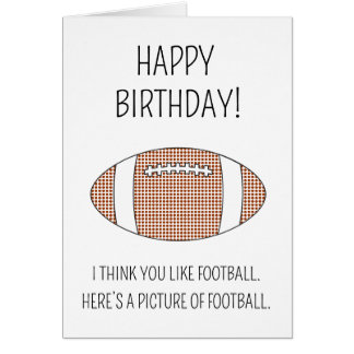A picture of football - Birthday card (US version)