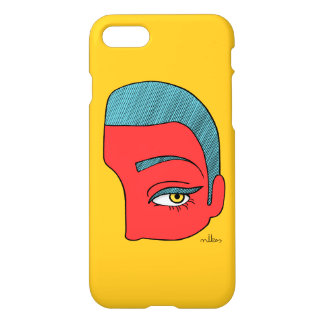 A piece of face iPhone 8/7 case