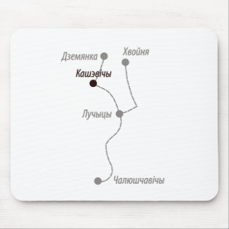 A piece of geography mouse pad
