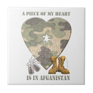 A Piece of My Heart Army Wife Tile